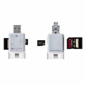 flash 5G All in 1 i-Flash Drive Lightning Micro USB TF SD CardReader For Iphone 5/5S/5C/6 6S 7 Plus ipod ipad IOS Andriod VAH73T0.4 การ์ดรีดเดอร์ แฟรชไดร์ - 5