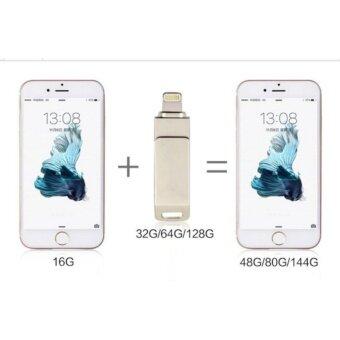 Flash Drive 128GB USB 3.0 Flash Drive Metal Pen drive HD memorystick i-Flash drive for iPhone PC. + OTG