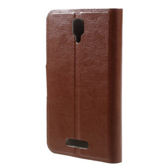 Flip Leather Cover for Lenovo A1000 (Brown) - intl