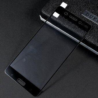 For Nokia 6 Silk Print Full Screen Cover Mobile Tempered GlassProtector Film - Black - intl