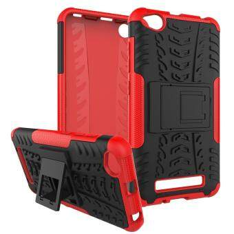 For Xiaomi Redmi 4a Cool Tyre Pattern PC + TPU Hybrid Case withKickstand .