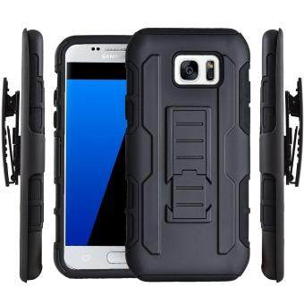 Full Body Shockproof Heavy Duty Rugged Case With Locking BeltSwivel Clip & Kickstand For Samsung Galaxy