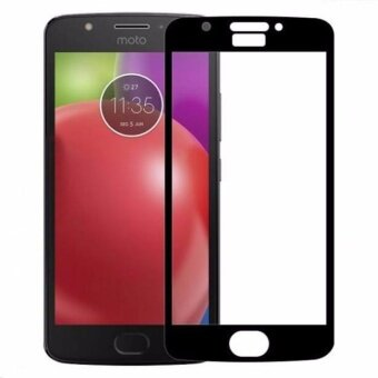 Full Covered Curved Tempered Glass Screen Protector for MotorolaMoto E4 (Black) - intl