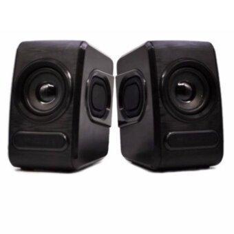GearMaster shockwave GMS06 ลำโพงเเจ็ก 3.5 ไฟ USB ที่เสียบหูฟัง สีดำ