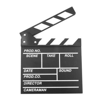 Harga Gift Director Video Scene Clapperboard Tv Movie Clapper Board FilmSlate Cut Prop - intl