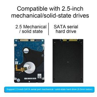 GOOD 2.5 Inch USB 2.0 Hard Drive Disk SATA External Enclosure HDD Hard Drive Box Black - intl