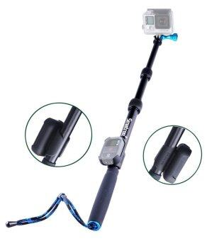 GoPro Smatree SmaPole S2 All-aluminum Gopro Handheld Pole integrated with a Tripod Mount (16″to 40″ Extension) + Smatree Protective ClipCase ( for WiFi Remote Controller for GoPro Hero 1, 2, 3, 3+,4 ) (image 2)