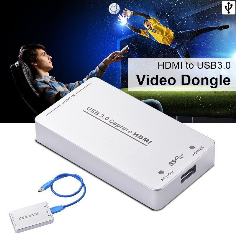 HDV-UH60 HDMI เพื่อ USB 3.0 วิดีโอจับดองเกิล 1080P 60FPS กล่องสำหรับวินโดวส์ AH234 - intl