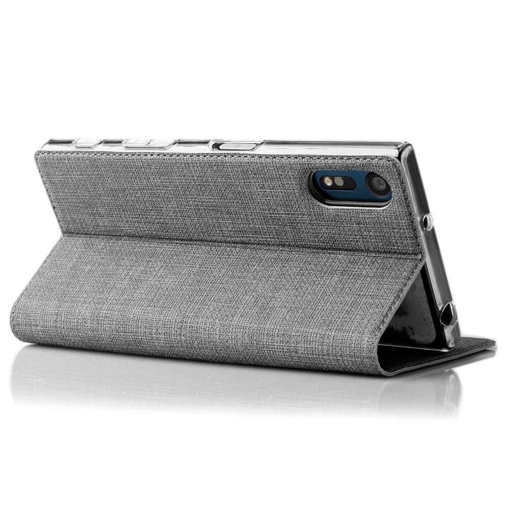 Hicase Slim PU Leather Flip Protective Magnetic Cover Case for Sony Xperia XZ .