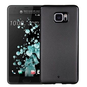 Hicase Ultra Light Slim Shockproof Silicone TPU Protective Case Cover for HTC U Ultra Black - intl