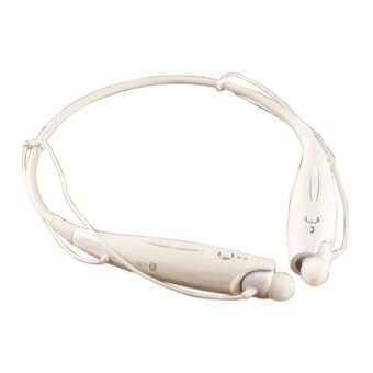 High Quality Wireless Bluetooth 4.0 Sport Stereo HeadsetheadphoneNeckband Style With MIC Bass (White) - intl