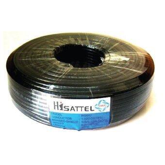 HISATTEL สายนำสัญญาณRG6 ชิลด์ 90% ยาว100เมตร - สีดำ