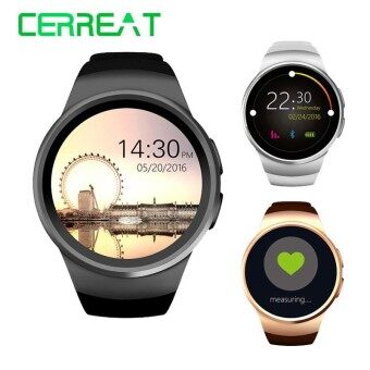 Hot KW18 Bluetooth Smart Watch Support SIM TF Card Smartwatch Clock Heart Rate Fitness Wristwatch for Apple Android Phone - intl