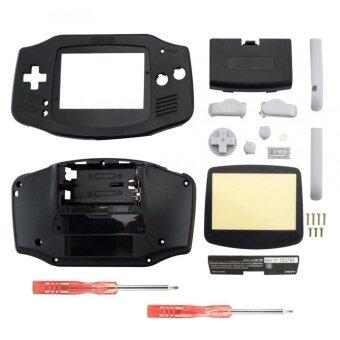 Housing Shell Parts for Nintendo Gameboy Advance GBA Repari Solid Black - intl