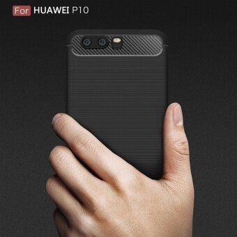 Huawei P10 Plus Case Shockproof Carbon Fibre Soft TPU Silicone Protective Case Cover for Huawei P10 Plus - intl - 4