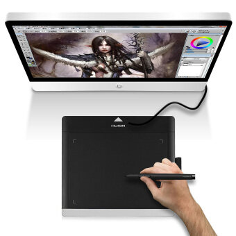 Huion 680TF Graphics Art Drawing Tablet Painting Pad Board USBRechargeable Pen - intl