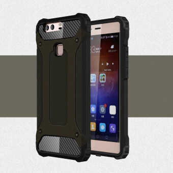 Hybrid Armor Back Case Cover for Huawei P9 Plus (Black)
