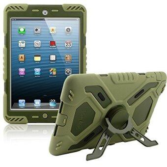 Harga Hybrid Armor Waterproof Shockproof Stand Case Cover for iPad mini1/2/3 (Army Green) - Intl