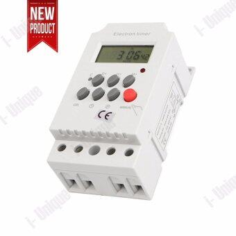 i-Unique AC 220V 25A Din Rail Digital Programmable Electronic Timer Switch For KG316T-II - intl