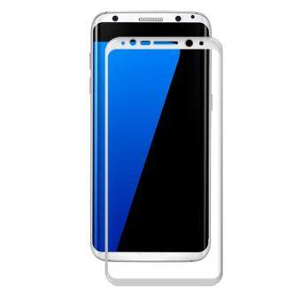 Harga AMORUS Full Size Silk Printing Tempered Glass Screen Guard for Samsung Galaxy S8 Plus - White - intl