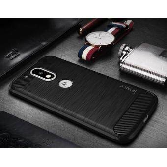 Harga IPAKY Brushed TPU Case for Motorola Moto G4 / G4 Plus with Carbon Fiber Decorated - Black - intl