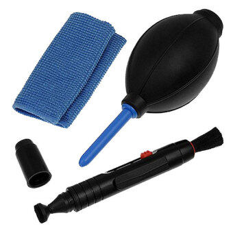 Harga Professional Lens Cleaning Kit Set With Pen Cloth Air Blower for Cameras(Canon,Nikon,Pentax,Sony)