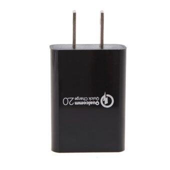 Harga Qualcomm Certificated QC2.0 Quick USB Charger Power Adapter (US Plug) - intl