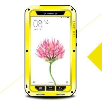 Harga LOVE MEI Shockproof Dropproof Dustproof Cover Case for Xiaomi Mi Max - Yellow - intl