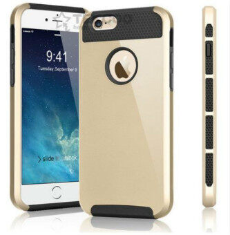 Harga Case Cover for Apple iPhone7 Hard Plastic Back Cover i5 i6 i7 Mobile Phone Case(Gold) - intl