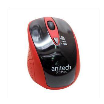 Harga Anitech Mouse Wirelessรุ่นW214 (BLK/RED)