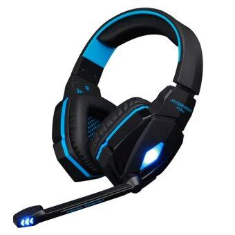 Harga KOTION EACH Stereo Gaming Headphone Headset with Mic Volume Control for PC Game(Black/Blue)