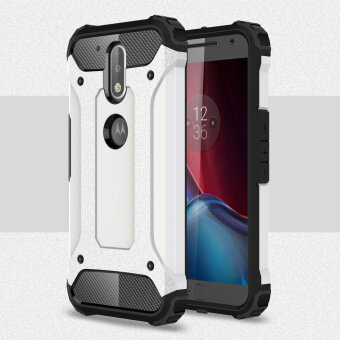 Harga Armor PC TPU Back Case for Motorola Moto G4/G4 Plus - White - intl