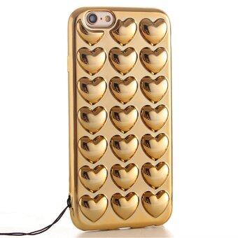 Harga GuluGuru for Apple iPhone 7 Plus Case [Plating Love Heart] 3D Soft TPU Shell Bling Shiny Back Cover Cell Phone Case + Sling Cord