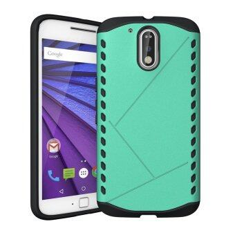 Harga Plastic and TPU Hybrid Protector Cover for Motorola Moto G4 / G4 Plus - Cyan - intl