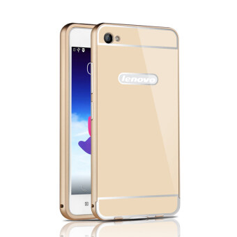 Harga RUILEAN Luxury Metal Aluminum Bumper Frame and Acrylic PC Hard Back Panel Case for Lenovo Sisley S90 S90U S90T (Gold)