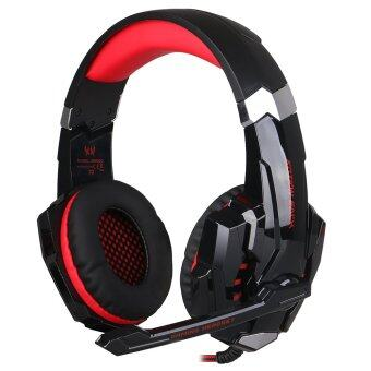 Harga KOTION EACH G9000 USB 7.1 Surround Sound Version Game Gaming Headphone Computer Headset Earphone Headband with Microphone LED Light(Red)