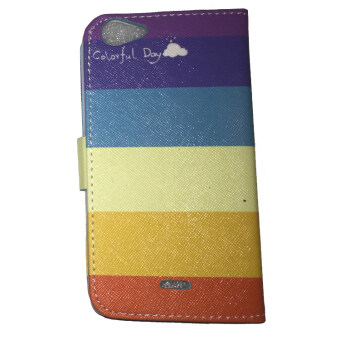 Harga Wiko Rainbow Jam PU Leather Case (Colorful Day)
