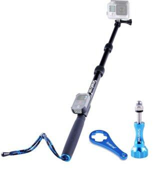 Harga GoPro ไม้เซลฟี่ Smatree SmaPole S2 All-aluminum Gopro Handheld Pole integrated with a Tripod Mount 16″to 40″ Extension + Smatree Protective ClipCase