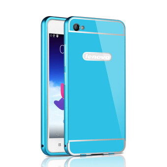 Harga RUILEAN Luxury Metal Aluminum Bumper Frame and Acrylic PC Hard Back Panel Case for Lenovo Sisley S90 S90U S90T (Blue)