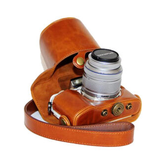 Harga PU Leather Camera Case for Olympus E-PL8 EPL7 EPL8 (Brown) - intl