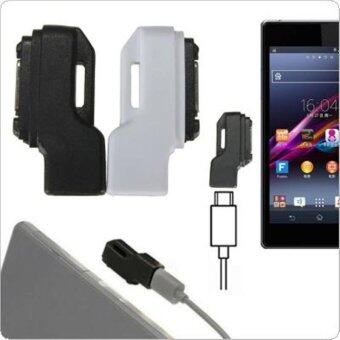 Harga 1PC Micro USB To Magnetic Charger Adapter for Sony Xperia Z1 Z2 Z3 - intl(Black)