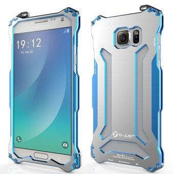 Harga R-just Aluminum Metal Frame Bumper Armor Case For Samsung Galaxy Note 5 N9200 (Color:Blue)