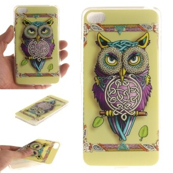 Harga Fit Soft TPU Phone Back Case Cover For Lenovo S90 Sisley S90T (Colorful Owl)