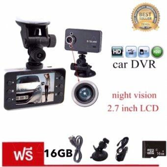 "Harga tib Car Camera กล้องติดรถยนต์ ในรถ K6000 Dvr Car DVR Night Vision Car Camera Recorder 2.7"" HD TFT Screen camrecorder แถมฟรี Memory Card"