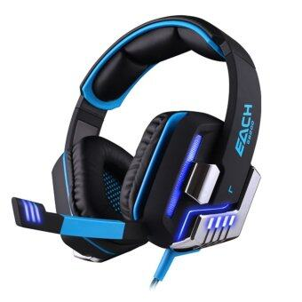 Harga KOTION EACH G8200 Game Headphone 7.1 Surround USB Vibration Gaming Headset with Microphone LED Light (Black/Blue) - intl