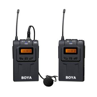 Harga BOYA BY-WM6 UHF 48 Channels Pro wireless microphone system for ENG, EFP, DSLR video, and other professional applications