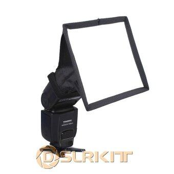 Harga Portable 15x17 cm Flash Diffuser Mini Flash Softbox for Canon Nikon Pentax Sony - intl