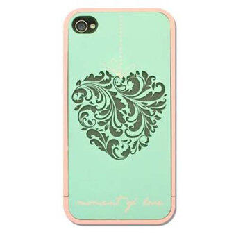 Harga Leegoal Travel Series Turquoise Carving Heart Moment of Love Case Cover for Apple iPhone 4 4S - intl