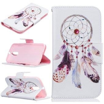 Harga Leather Flip Stand Case Wallet Cover for Motorola Moto G4 / G4 Plus - Dream Catcher - intl