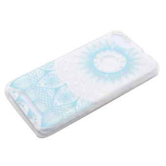 Harga Fashion Patterned Soft TPU Cover Case for Wiko Lenny 3 - Blue Mandala Pattern - intl
